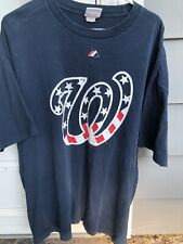 Majestic Washington Nationals Authentic Collection Blue T Shirt Mens XXL MLB