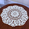 Lace Doily Crochet Runner Table Cloth Cup Mat Coaster inch Round Cotton 16''