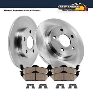 For Dodge Ram Promaster 1500 2500 3500 Rear Brake Rotors & Ceramic Pads