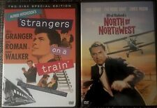 Strangers on a Train (2-Disc Set) & North By Northwest Dvd *Like New *