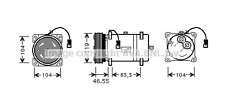 Peugeot 206 306 406 605 607 806 AIR-CON COMPRESSOR Peugeot Boxer