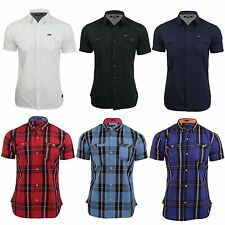 Firetrap Men's Cotton Button Down Casual Shirts & Tops
