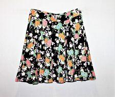 factorie Brand Black Kimono Floral Skater Skirt Size M BNWT #SU69