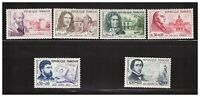 s23350) FRANCE 1960 MNH** Nuovi** Red Cross Famous persons 6v Y&T 1257/62