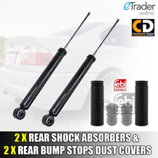 2 X BMW 3 SERIES E46 REAR SHOCK ABSORBERS & BUMP STOPS DUST COVERS PAIR NEW