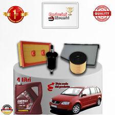 Filtres Kit D'Entretien + Huile VW Touran 1.6 FSI 85kw 115cv à partir de 2006 ->