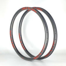 "SALE PREMIUM 35mm Width Carbon Fiber 29"" Mountain Clincher Rim Tubeless 1PAIR"