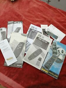 Universal Remote Control Code Books.One4All,Phillips,Kingavon,URC etc