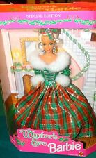 1994 Special Edition Winter's Eve Barbie Doll Mattel 13613 green red plaid NIB