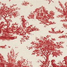 Anna Griffin Jolie Pastoral Toile Fabric in Red CF2405-1 100% Cotton