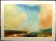 """John Maxon """"Release"""" Hand Signed Art Color Etching Artwork Clouds SUBMIT OFFER!"""