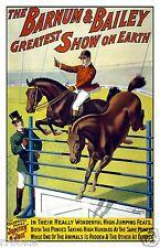Barnum & Bailey Circus - Equestrian Horse Jumping Fine Art Print / Poster