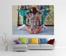 TATTOO NAKED SEXY BABE WOMAN LADY GIANT WALL ART PRINT PHOTO POSTER H53
