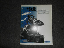1998 Yamaha Motorcycle Atv Technical Update Service Manual Oem Factory