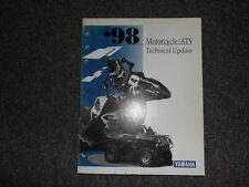 1998 Yamaha Motorcycle Atv Technical Update Service Manual Oem Factory