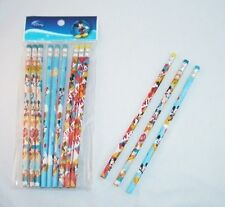 12 pcs Disney Mickey Mouse Wood Pencil Kids Party Gift School Stationery Supply