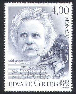 Monaco 1993 Edvard Grieg/Composers/Music/People/Entertainment/Arts 1v (n38562)