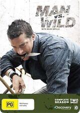 Man Vs Wild : Season 2 (DVD, 2011, 4-Disc Set) Special tin box.