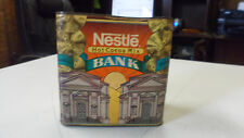 VINTAGE NESTLE HOT COCOA MIX TIN COIN BANK MADE IN USA