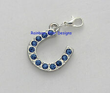 Something Blue Horseshoe Garter/Bouquet/Bracelet Charm