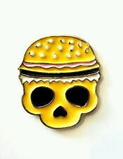 Burger cráneo Insignia Pin Esmalte 25mm
