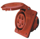 RED 415V 16AMP 5 PIN INDUSTRIAL PLUG & SOCKETS IP44 3 PHASE 3P+N+E