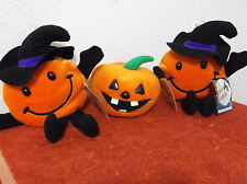 BRAND NEW 3 HALLOWEEN DECO PLUSH BEANIE BOPPERS