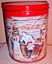 """1995 COCA-COLA ~ COKE ~7 3/8"""" Tall x 6"""" dia. TIN CAN"""