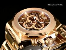 NEW 58mm Invicta AKULA PRESTIGE Automatic BROWN Dial Rose Gold Bracelet Watch
