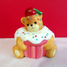 Lucy & Me Cupcake Teddy Bear Enesco Figurine
