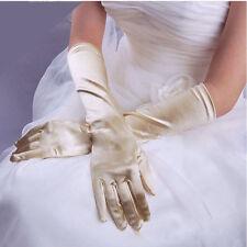 Paire de gants longs satin pour mariage : LONG 54 cm - coloris champagne