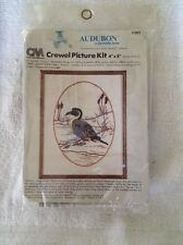"New listing Crewel Embroidery Kit Columbia-Minerva Audubon Pintail Duck 4""x5"" 1980 Made Usa!"