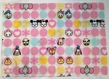 Disney Cuties One Pillow Case Pink White Mickey Minnie Mouse Bambi