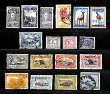 18 Belgian Congo Stamps  / Mnh, Mh & Used / Rare Lot