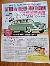 1948 Parkay Margarine Ad  Win a new 1949 Ford Custom