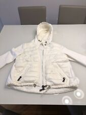 Moncler Authentic Ivory Quilted Jacket Sweater Size Xs