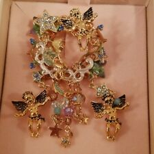 New In Box!! Kirks Folly Angel Brooch With 2 Cherub Pins