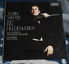 STRAUSS EIN HELDENLEBEN 1969 UK LP DECCA SXL 6382 ZUBIN MEHTA / DAVID FRISNA WB
