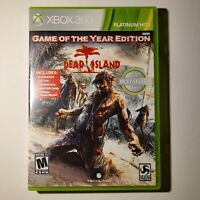 Dead Island Game of the Year Edition Xbox 360 2012 M Complete Tested/Working