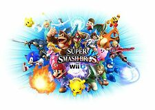 New Super Smash Bro's - Amazing Huge - Wall  Poster  34 x 42 ( Fast Shipping )