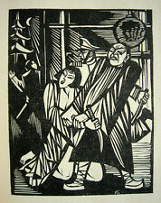 Shanghai massacre 1927 Massaker Tai Yang Orig.-Holzschnitt Conrad Felixmüller