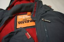 Superdry Mens Hooded Polar Windhiker fleece lining Jacket coat
