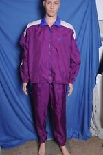 Vintage '90s NIKE Plumb Nylon track jogging athletic suit  L