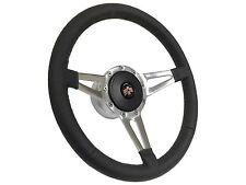 1967 - 1968 Pontiac Firebird / Slot Spoke Leather Steering Wheel, Hub & Button