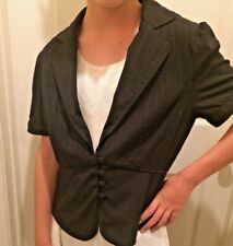 Forever 21 Black 4/6 Work Career Casual Blazer Suit Peplum Jacket Coat Top S/M