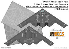 B-2A Spirit Bomber RAM Panels, Wheels & Canopy Paint Masks Set by DN Models 1/72