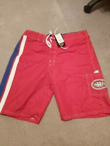 MONTREAL CANADIENS NHL SHORTS /  BATHING SUIT NEW WITH TAGS XXL G-111 CARL BANKS