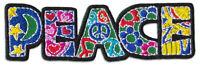 Peace Welt-Frieden Flower Power Hippie Symbol Aufnäher Patch Aufbügler Sticker