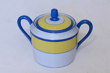CH Field Haviland Limoges Monet Giverny yellow/blue rim Sugar Bowl with lid