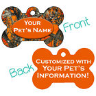 Orange Realtree Camo Double Sided Pet Id Dog Tag Personalized for Your Pet